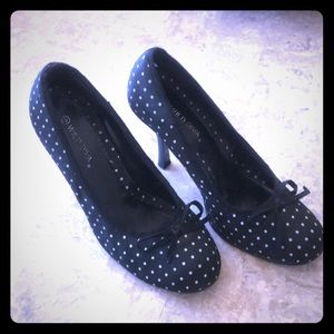 Beautiful polka dot shoes